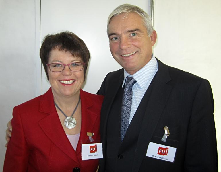 Thomas Strobl MdB wünscht Dorothea Maisch viel Erfolg für ihre Kandidatur (Stuttgart 2012)