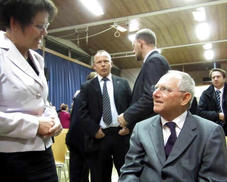 Neujahrsempfang der CDU mit Dr. Wolfgang Schäuble in Hügelsheim