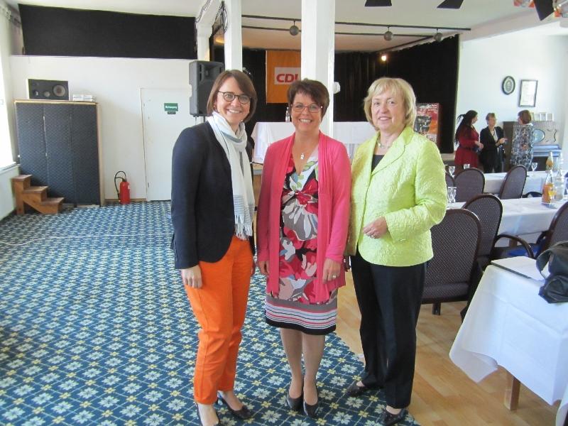 Mit den beiden MdB Prof. Dr. Maria Böhmer und Annette Widmann-Mauz