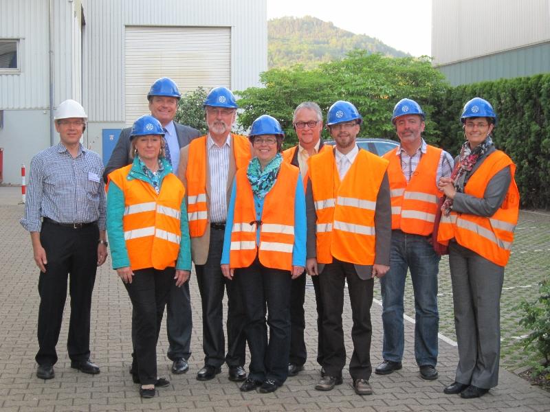 Besuch bei Schrott Lang mit der Fraktion, Juli 2012