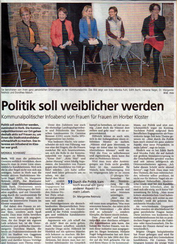 BNN, 14.02.2014: Politik soll weiblicher werden