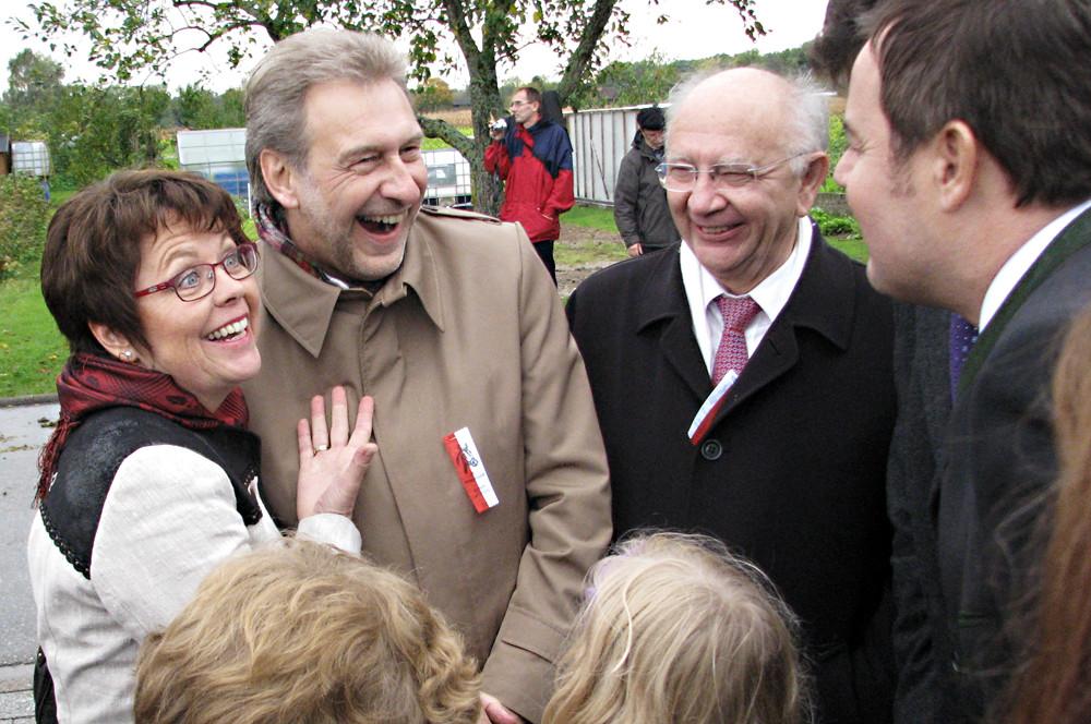Auf dem Wendelinusfest in Leiberstung mit Landrat Jürgen Bäuerle, MdB Peter Götz und MdL Tobias Wald