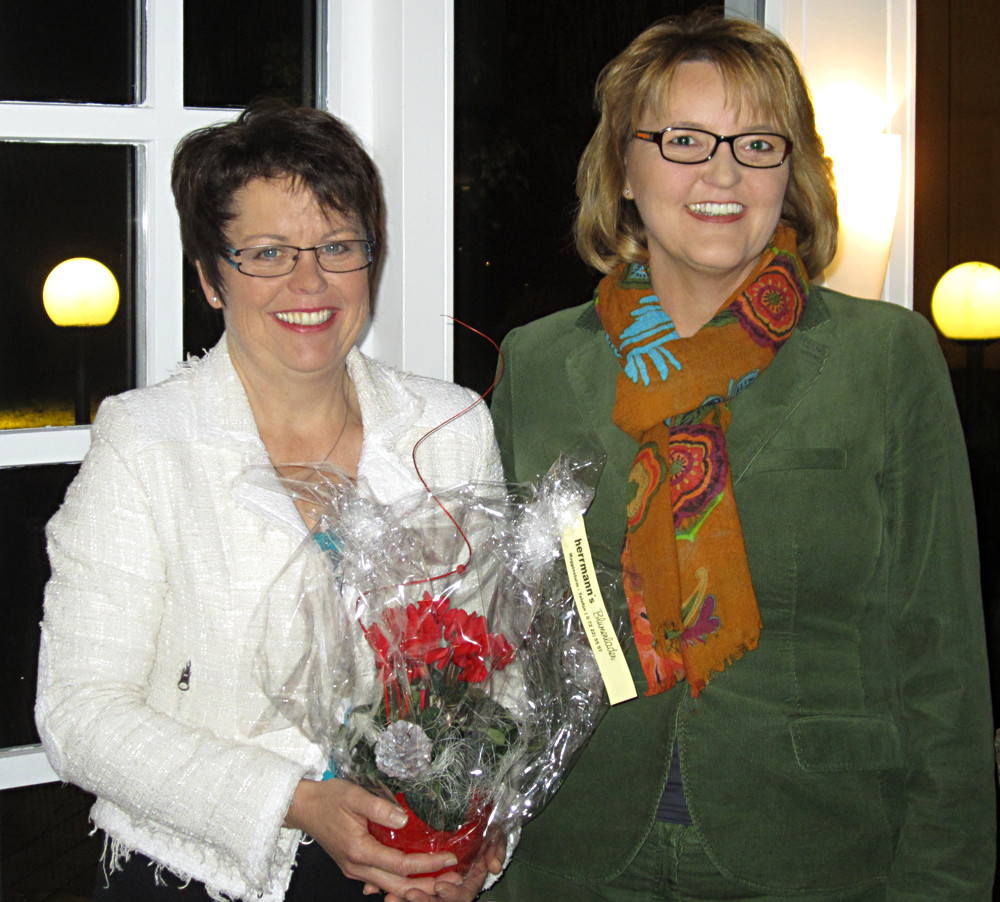 Bei der Frauen Union Rastatt mit der Vorsitzenden Doris Österle