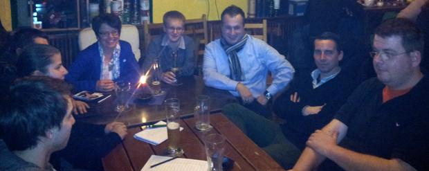 Treffen mit der JU im Irish Pub in Rastatt