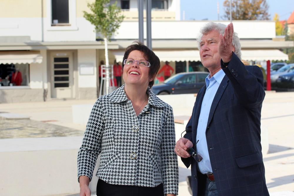 Dorothea Maisch mit Friedebert Keck (CDU) in Gernsbach