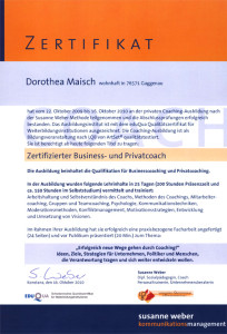 Zertifikat Business- und Privatcoach